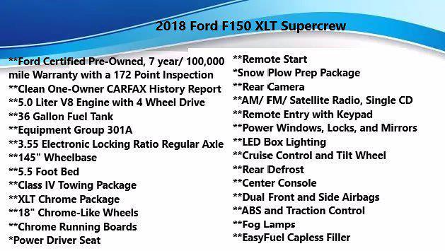 2018 Ford F-150 SuperCrew Cab 4x4, Pickup #FL1238D - photo 5