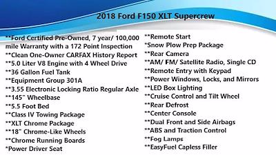 2018 F-150 SuperCrew Cab 4x4,  Pickup #FL1238D - photo 1