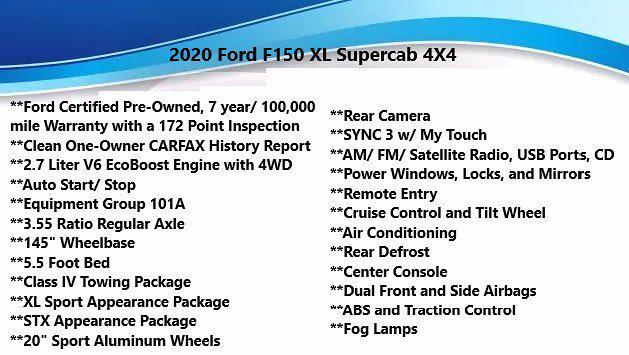 2020 Ford F-150 Super Cab 4x4, Pickup #FL1249C - photo 4