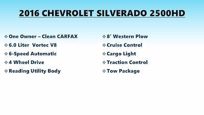 2016 Silverado 2500 Double Cab 4x4,  Service Body #FL1334P - photo 6