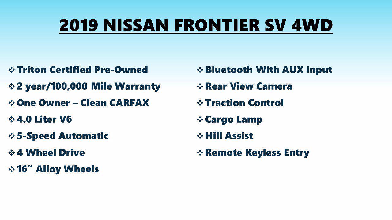 2019 Frontier Crew Cab 4x4,  Pickup #FL1335P - photo 5