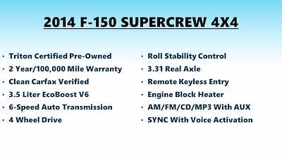 2014 F-150 SuperCrew Cab 4x4,  Pickup #FL1349P - photo 5