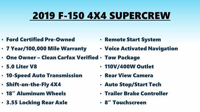 2019 F-150 SuperCrew Cab 4x4,  Pickup #FL1375D - photo 3