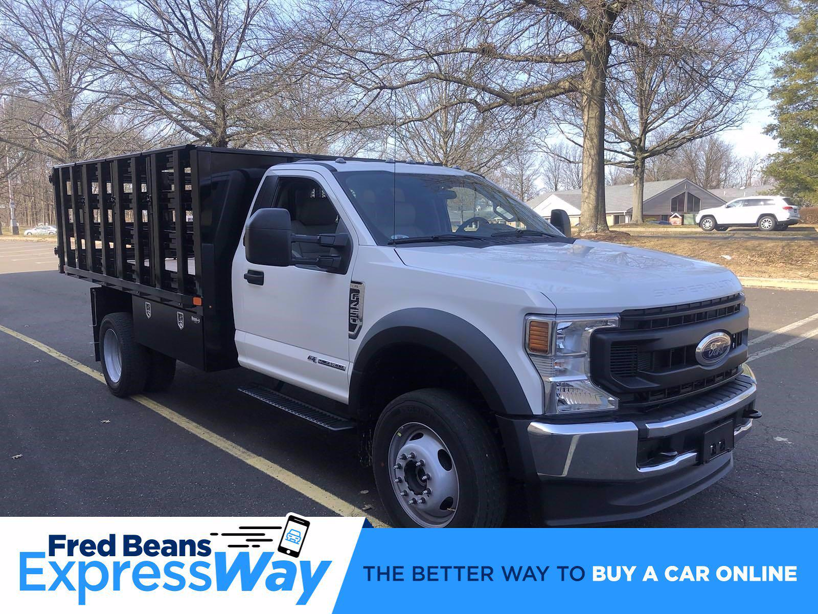 2021 F-450 Regular Cab DRW 4x4,  PJ's Truck Bodies Stake Bed #FLU10174 - photo 13
