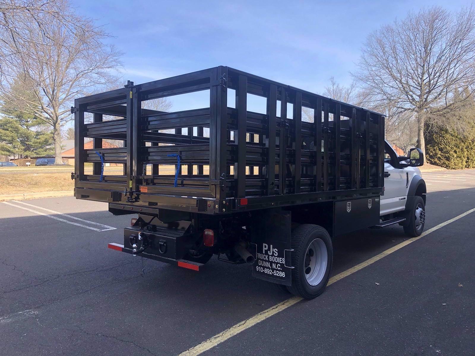 2021 F-450 Regular Cab DRW 4x4,  PJ's Truck Bodies Stake Bed #FLU10174 - photo 18