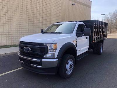 2021 Ford F-450 Regular Cab DRW 4x4, PJ's Stake Bed #FLU10174 - photo 4