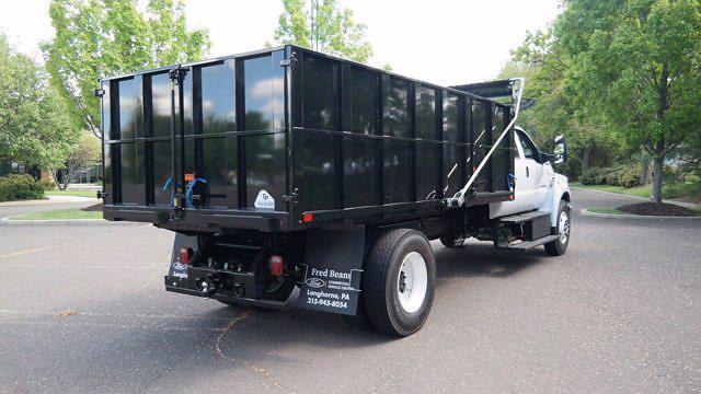 2022 F-750 Crew Cab DRW 4x2,  TP Trailers Inc. Landscape Dump #FLU10237 - photo 2