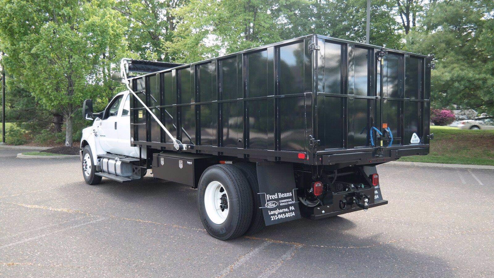 2022 F-750 Crew Cab DRW 4x2,  TP Trailers Inc. Landscape Dump #FLU10237 - photo 23