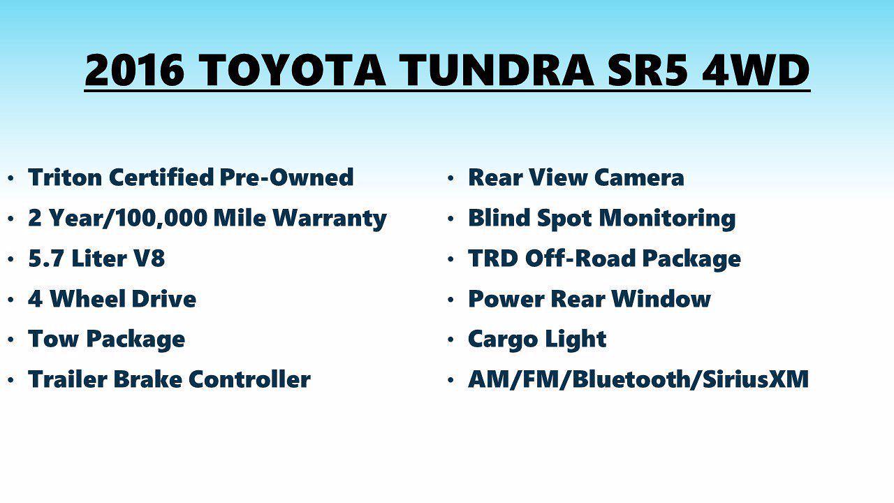 2016 Tundra Crew Cab 4x4,  Pickup #FLU103392 - photo 4