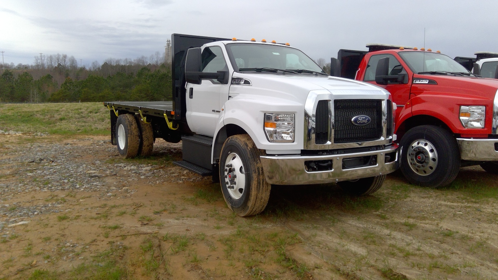 2019 Ford F-650 Regular Cab DRW 4x2, PJ Truck Beds Platform Body #FT10299A - photo 1