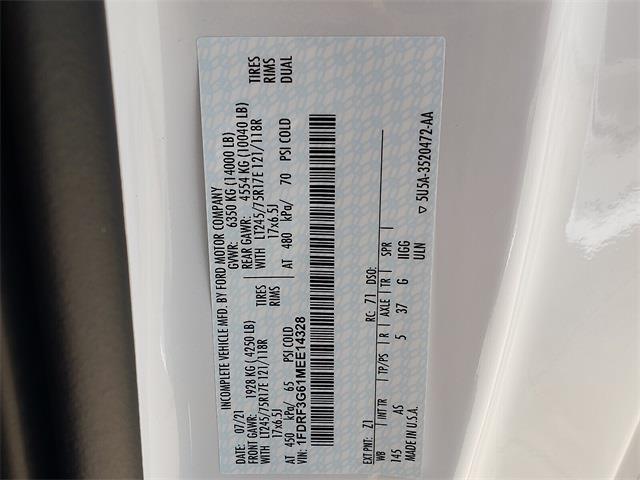 2021 F-350 Regular Cab DRW 4x2,  Cab Chassis #MEE14328 - photo 16
