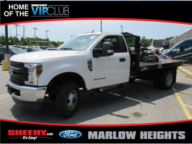 2019 F-350 Regular Cab DRW 4x4,  Monroe Work-A-Hauler II Stake Bed #BA11195 - photo 6