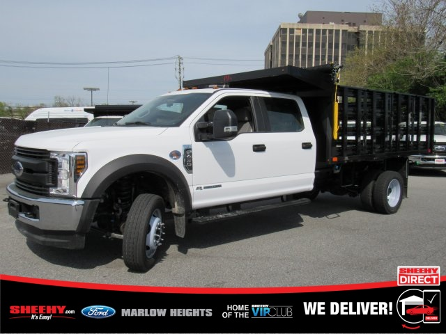 2019 Ford F-450 Crew Cab DRW 4x4, PJ's Stake Bed #BD96679 - photo 1