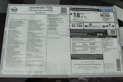 2020 Nissan Titan Crew Cab 4x4, Pickup #D507321 - photo 37