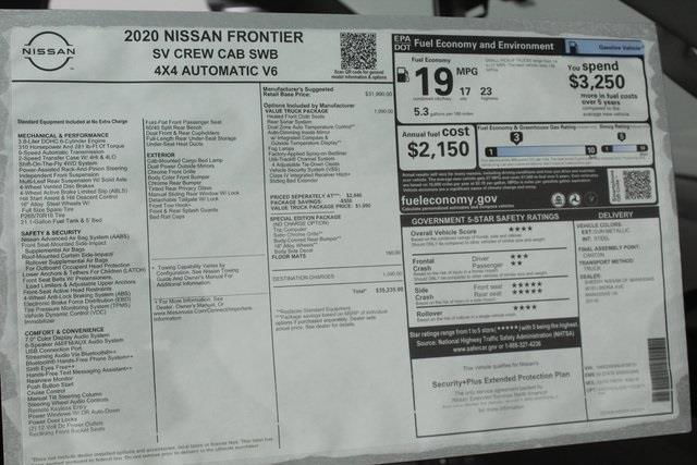 2020 Nissan Frontier Crew Cab 4x4, Pickup #D709731 - photo 22
