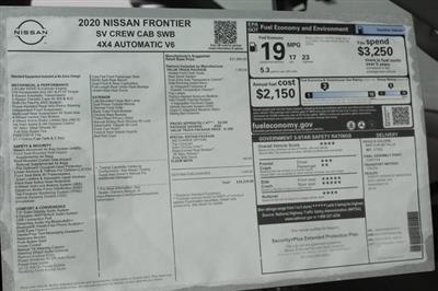 2020 Nissan Frontier Crew Cab 4x4, Pickup #D709731 - photo 23