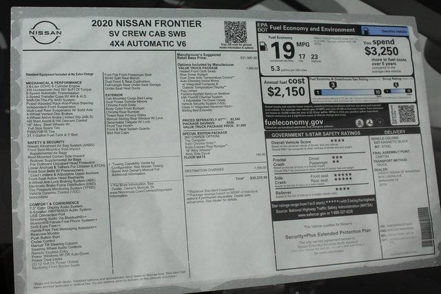 2020 Nissan Frontier Crew Cab 4x4, Pickup #D710204 - photo 27