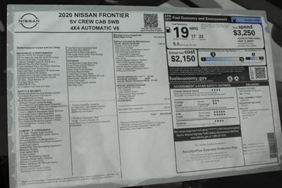2020 Nissan Frontier Crew Cab 4x4, Pickup #D710204 - photo 28