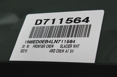 2020 Nissan Frontier Crew Cab 4x4, Pickup #D711564 - photo 24