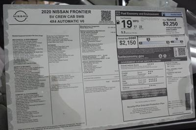 2020 Nissan Frontier Crew Cab 4x4, Pickup #D711564 - photo 25