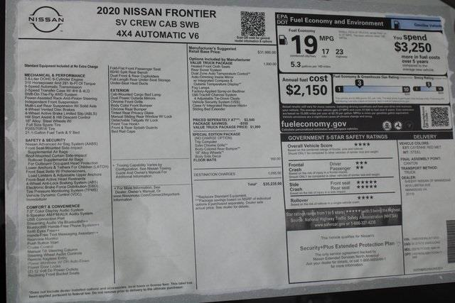 2020 Nissan Frontier Crew Cab 4x4, Pickup #D713333 - photo 27