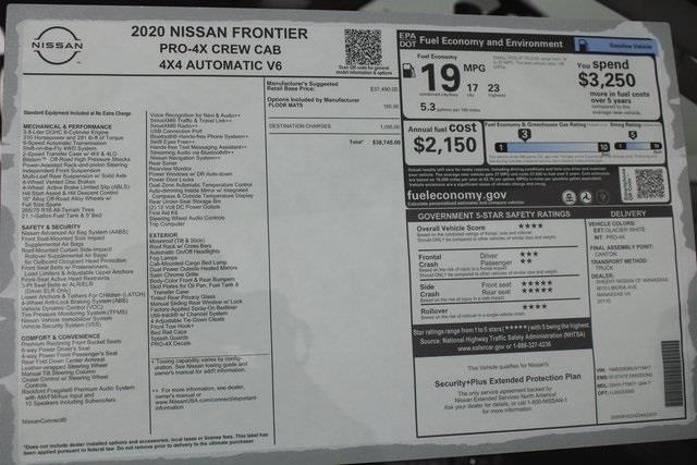 2020 Nissan Frontier Crew Cab 4x4, Pickup #D715817 - photo 31
