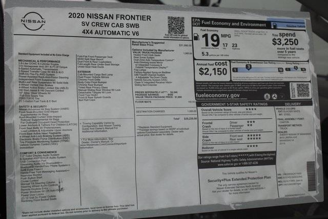 2020 Nissan Frontier Crew Cab 4x4, Pickup #D715855 - photo 23