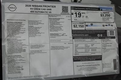 2020 Nissan Frontier Crew Cab 4x4, Pickup #D715855 - photo 22
