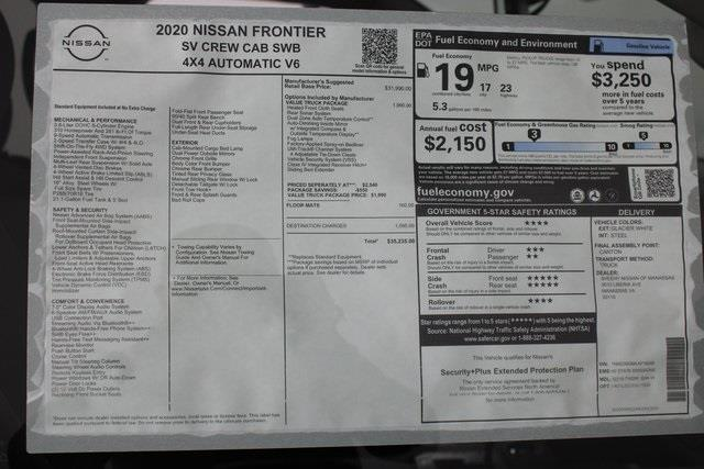 2020 Nissan Frontier Crew Cab 4x4, Pickup #D716288 - photo 25