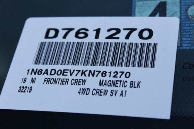 2019 Frontier Crew Cab 4x4,  Pickup #D761270 - photo 27