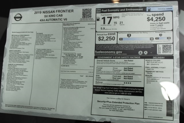 2019 Frontier King Cab, Pickup #D782120 - photo 31