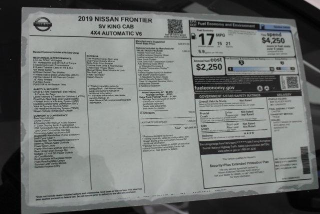 2019 Frontier King Cab 4x4, Pickup #D878523 - photo 34
