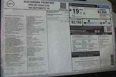 2020 Nissan Frontier Crew Cab 4x4, Pickup #DS716688 - photo 32