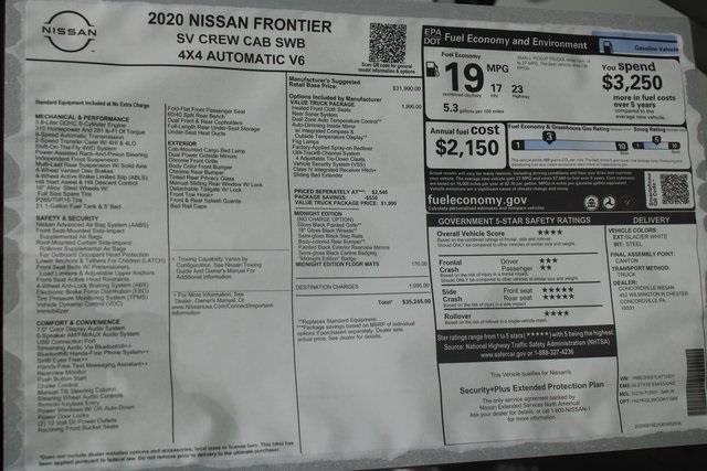 2020 Nissan Frontier Crew Cab 4x4, Pickup #DX712501 - photo 27