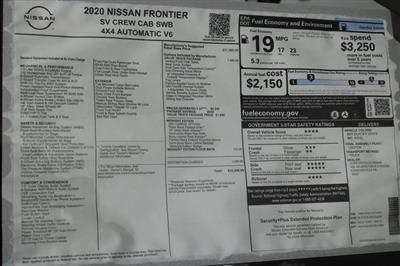 2020 Nissan Frontier Crew Cab 4x4, Pickup #DX712501 - photo 28