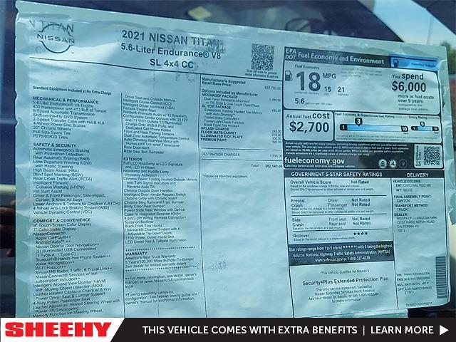 2021 Nissan Titan 4x4, Pickup #K501536 - photo 6