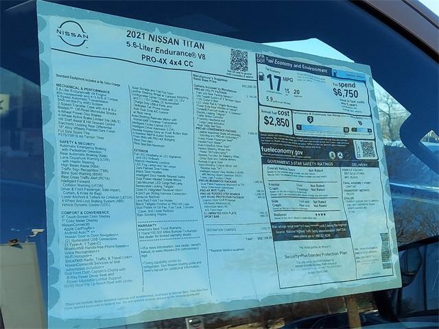 2021 Nissan Titan 4x4, Pickup #K502552 - photo 7