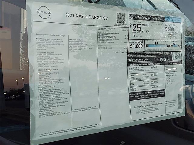 2021 Nissan NV200 4x2, Empty Cargo Van #K694352 - photo 7