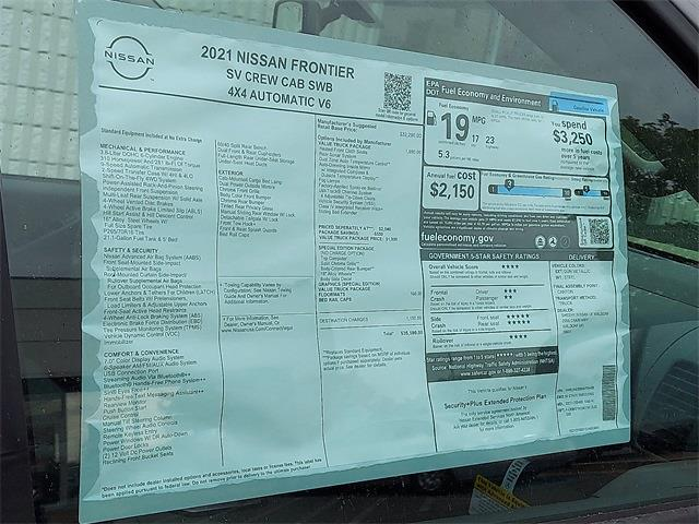2021 Nissan Frontier 4x4, Pickup #K705489 - photo 5