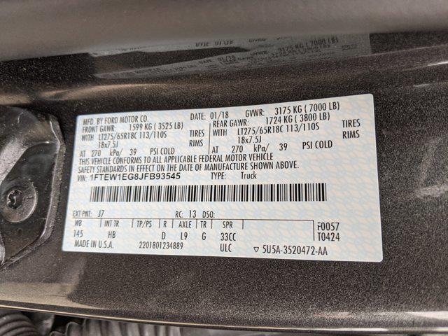 2018 Ford F-150 SuperCrew Cab 4x4, Pickup #JFB93545 - photo 20