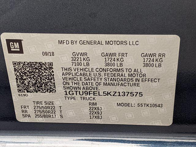 2019 GMC Sierra 1500 Crew Cab 4x4, Pickup #KZ137575 - photo 22