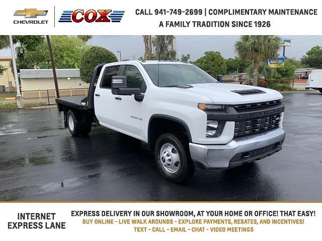 2021 Chevrolet Silverado 3500 Crew Cab 4x4, CM Truck Beds Platform Body #1T238408 - photo 1