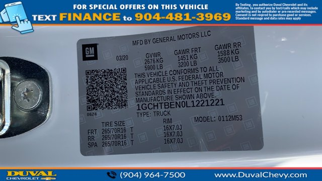 2020 Chevrolet Colorado Extended Cab 4x4, Pickup #L1221221 - photo 22