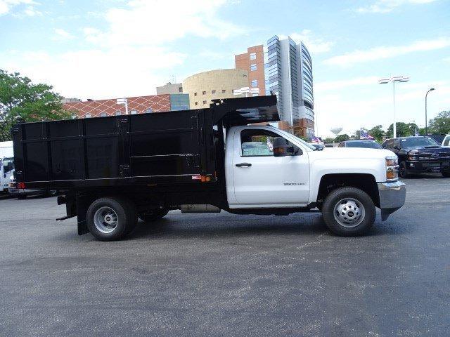 2019 Silverado 3500 Regular Cab DRW 4x4,  Reading Landscaper SL Landscape Dump #B26480 - photo 3