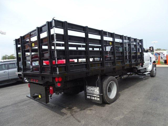 2019 Silverado Medium Duty Regular Cab DRW 4x2,  Monroe Stake Bed #B26907 - photo 1