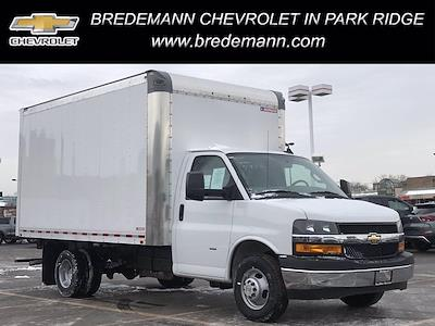 2021 Chevrolet Express 3500 4x2, Morgan Parcel Aluminum Cutaway Van #B27876 - photo 1