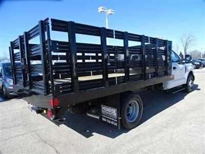 2020 Ford F-350 Regular Cab DRW RWD, Monroe Work-A-Hauler II Stake Bed #F40362 - photo 2