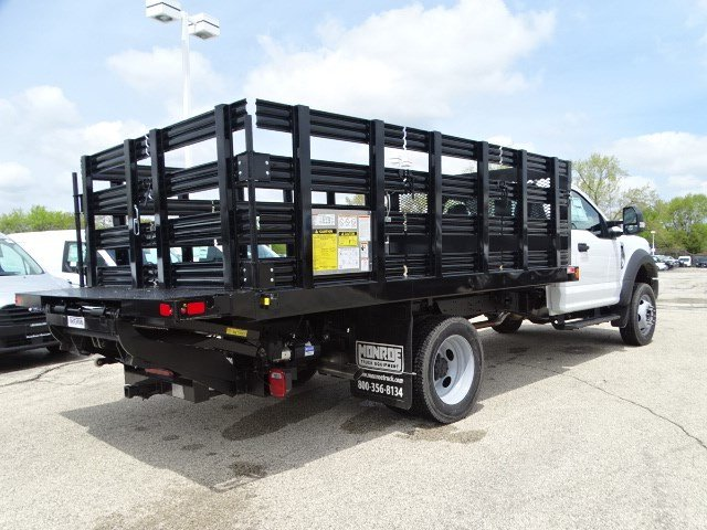 2020 F-450 Regular Cab DRW 4x4, Monroe Work-A-Hauler II Stake Bed #F40510 - photo 2