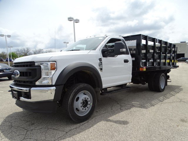 2020 F-450 Regular Cab DRW 4x4, Monroe Work-A-Hauler II Stake Bed #F40510 - photo 5
