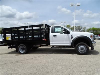 2020 F-450 Regular Cab DRW 4x4, Monroe Work-A-Hauler II Stake Bed #F40510 - photo 3